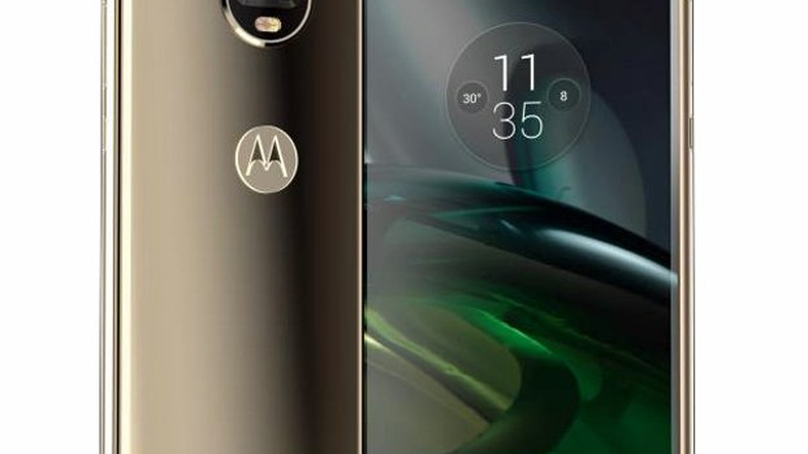 Moto X4 photo leaked, showing dual cameras and curved screen