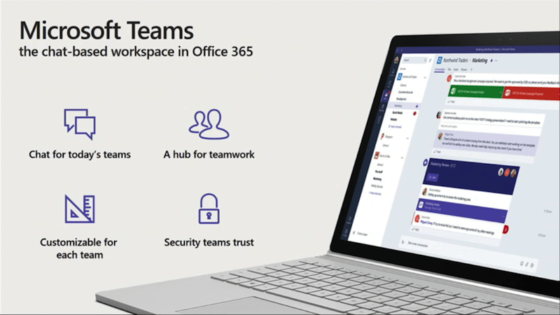 Microsoft Teams Launched in Preview, a Slack Rival for Office 365 Users
